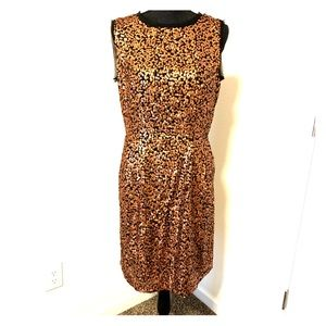 Jessica Simpson copper sequined dress NWT 12